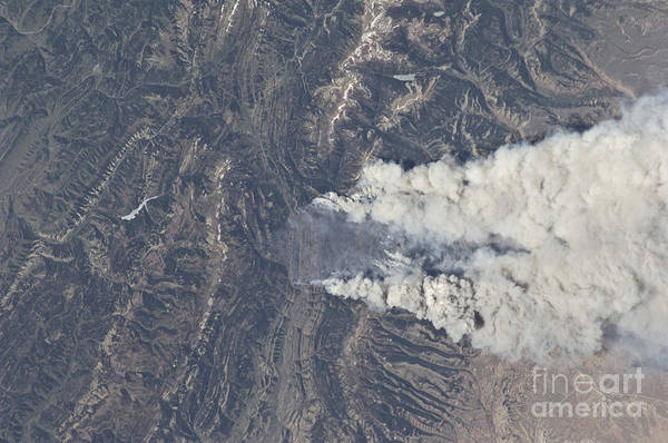 View From Space Of The Fontenelle Fire Poster