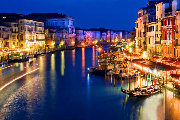Poster featuring the photograph View From The Rialto Bridge by Gigi Ebert