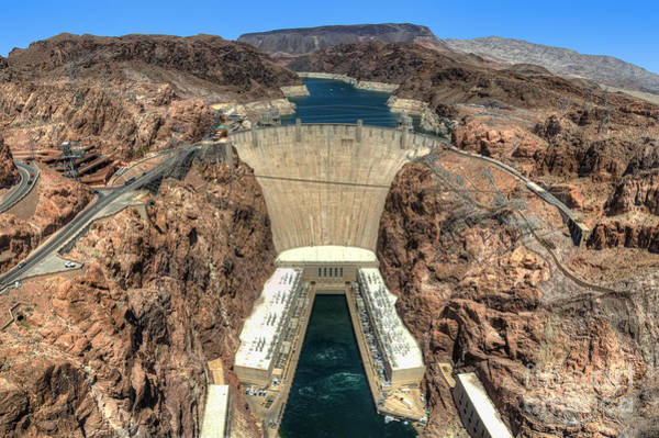 View Of Hoover Dam Poster