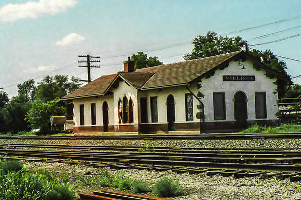 Poster featuring the photograph Villisca Train Depot by Edward Peterson