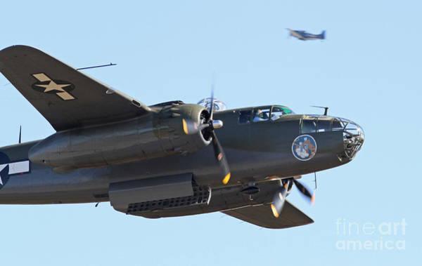 Vintage B-25 Mitchell Bomber Poster