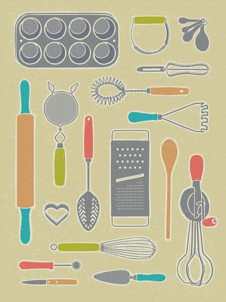 Vintage Cooking Utensils Poster