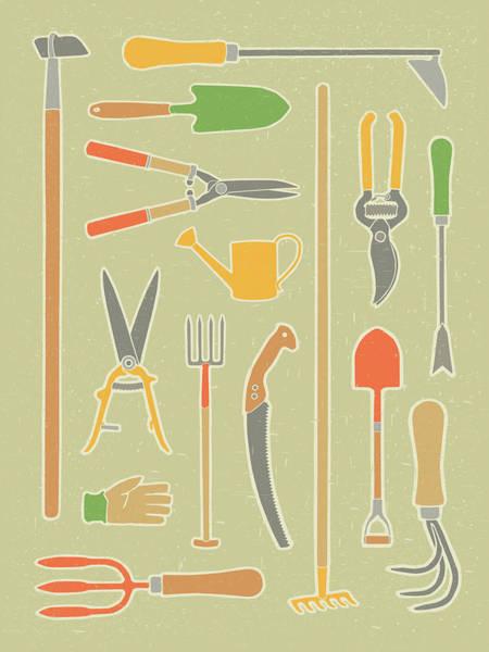 Vintage Garden Tools Poster