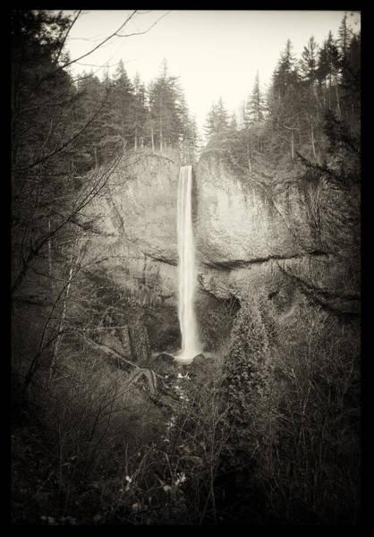 Vintage Latourell Falls Poster