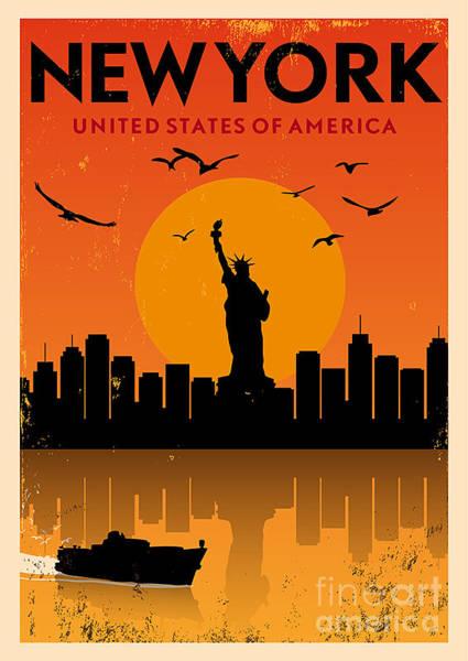 Vintage New York Poster Poster