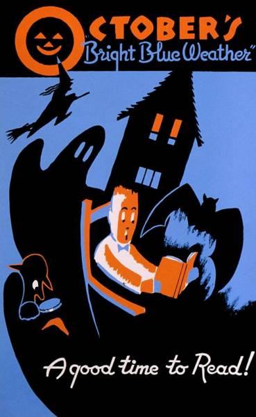 Vintage Poster - Reading - October Poster