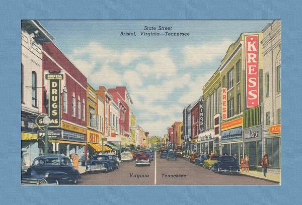 Vintage Va Tn Postcard Kress  Poster