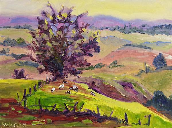 Violet Mountains At Sunrise Poster