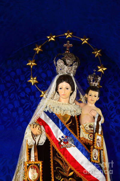 Virgen Del Carmen Close Up Chile Poster