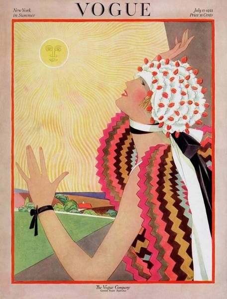 Vogue Cover Featuring A Woman Looking At The Sun Poster