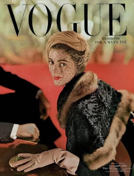 Vogue Cover Featuring Carmen Dell'orefice Poster