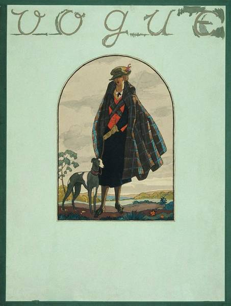 Vogue Cover Illustration Of A Woman Standing Poster
