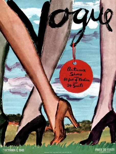 Vogue Cover Illustration Of Female Legs Wearing Poster
