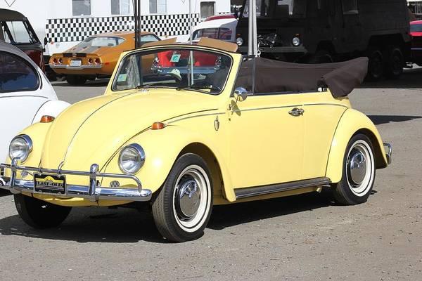 Volkswagen Convertible Vintage Poster