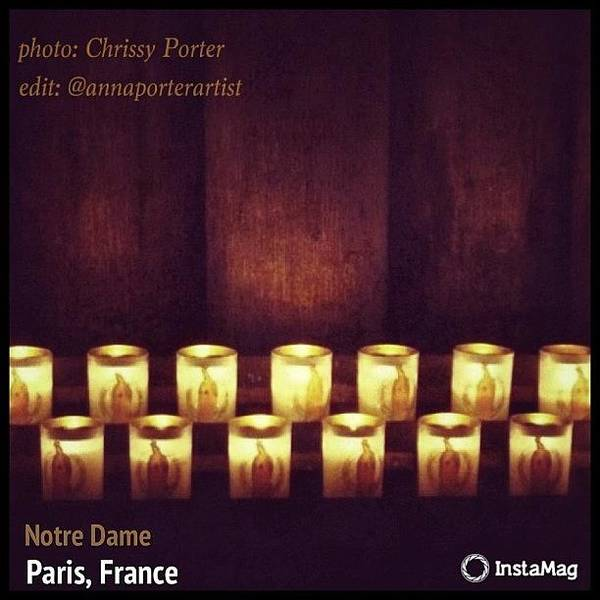 Votive Candles - Notre Dame Cathedral Poster