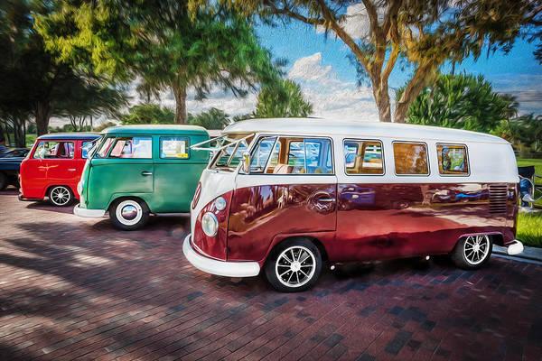 Vw Bus Stop 1964 1961 1968 Vans Trucks Painted Poster