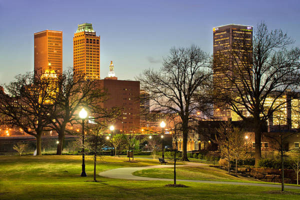Walkway City View - Tulsa Oklahoma Poster