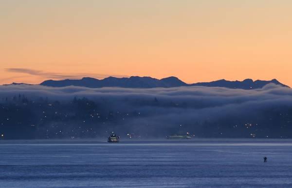 Washington State Ferries At Dawn Poster