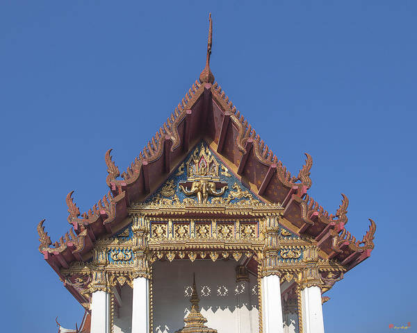 Wat Amarintaram Ubosot Gable Dthb1509 Poster
