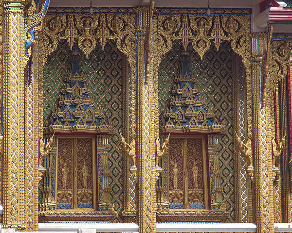 Wat Thung Setthi Ubosot Window Dthb1550 Poster