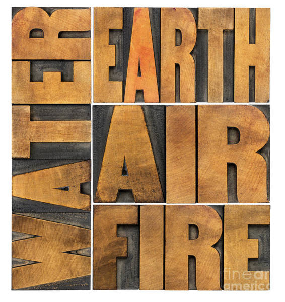 Water Earth Air And Fire Poster