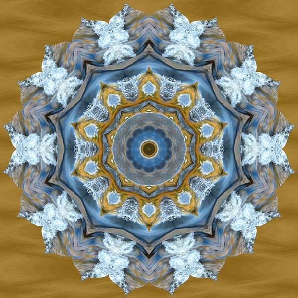 Water Patterns Kaleidoscope Poster