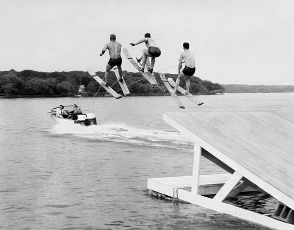 Water Ski Show Jumpers Poster