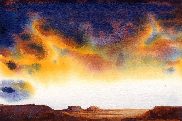 Poster featuring the painting Mesa by Konnie Kim