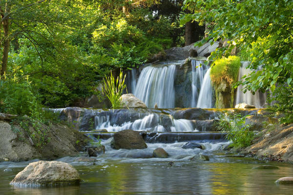 Waterfall At Lake Katherine 2 Poster