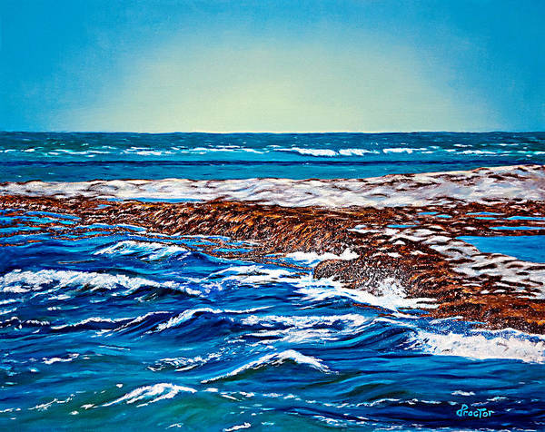 Poster featuring the painting Waves Of Blue by Donna Proctor