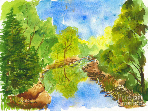 Weber River Reflection Poster