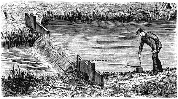 Weir And River Measurements, 1897 Poster