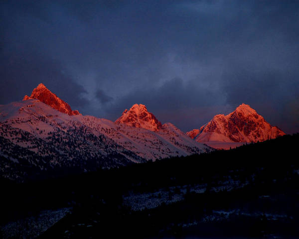 West Side Teton Sunset Poster