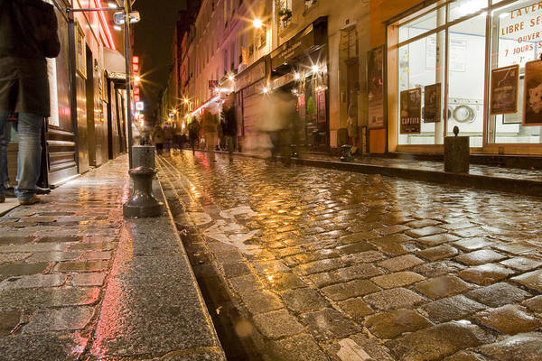 Wet Paris Street Poster