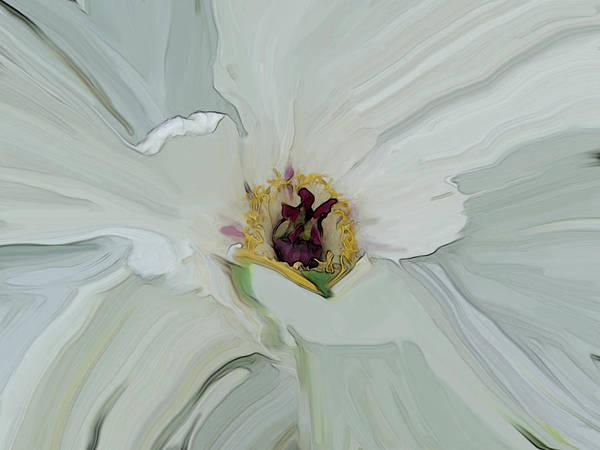 White Bloom Poster
