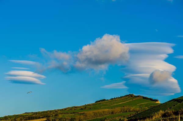 White Clouds Form Tornado Poster