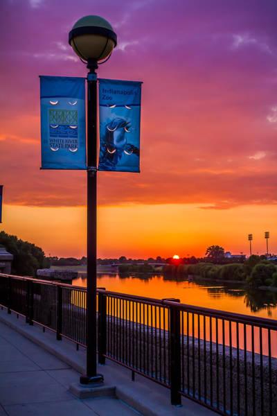White River Sunset Poster