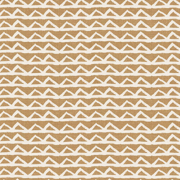 White Triangles On Burlap Poster