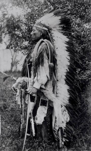White Wolf, A Comanche Chief, C.1891-98 Bw Photo Poster