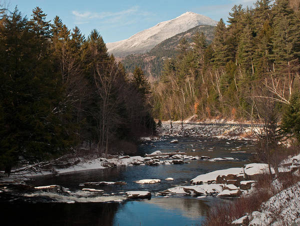Whiteface Mountain At Monument Falls Poster