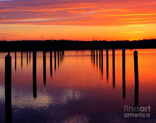 Winchester Bay Sunset Poster