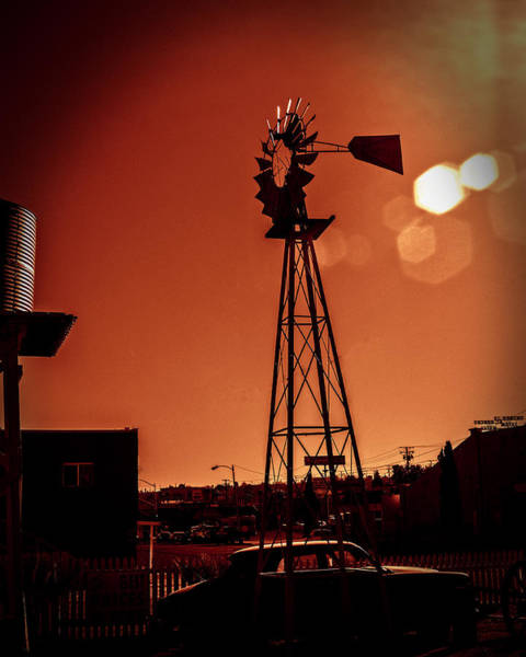 Poster featuring the photograph Windmill On Route66 by William Havle