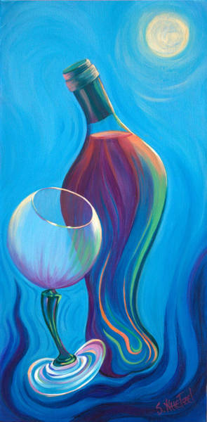 Poster featuring the painting A Wine Affair by Sandi Whetzel