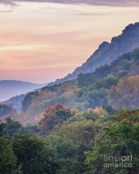 Poster featuring the photograph Winona Fall Colors Slopes II by Kari Yearous