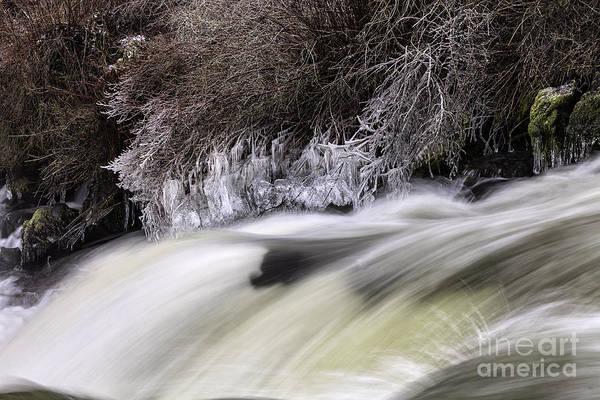 Winter At Dillon Falls Poster