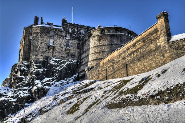 Poster featuring the photograph Winter At Edinburgh Castle by Ross G Strachan