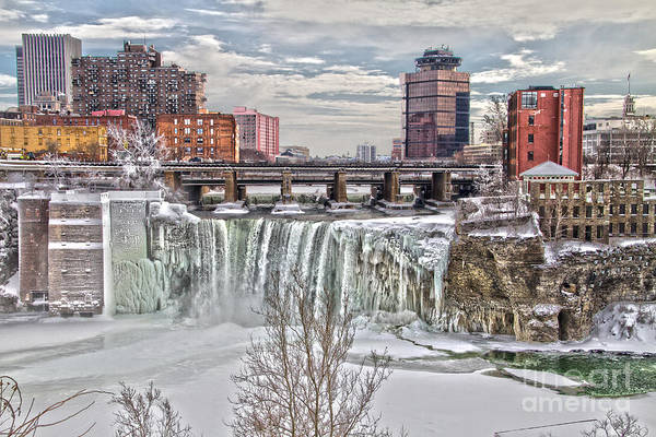 Winter At High Falls Poster