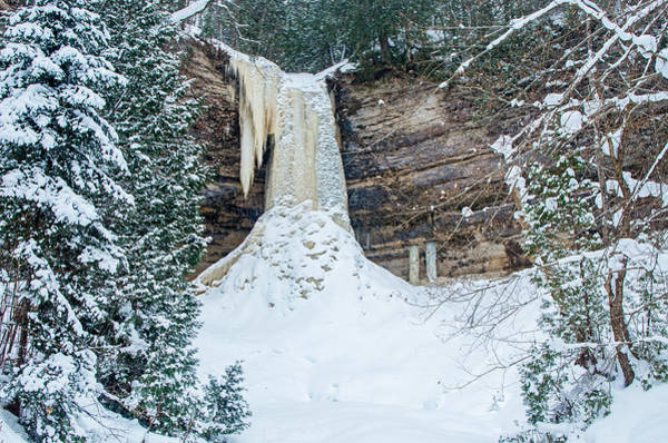 Winter At Munising Falls Poster