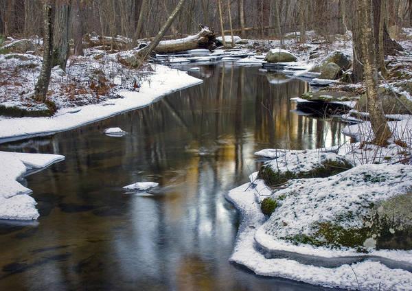 Winter Snake Meadow Brook Poster