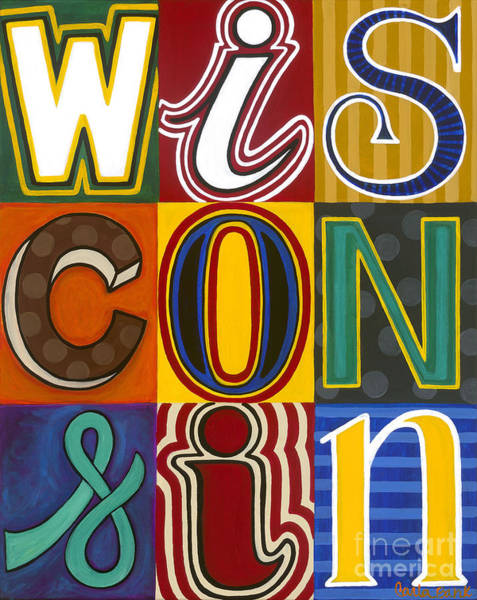 Poster featuring the painting Wisconsin Pop Art by Carla Bank